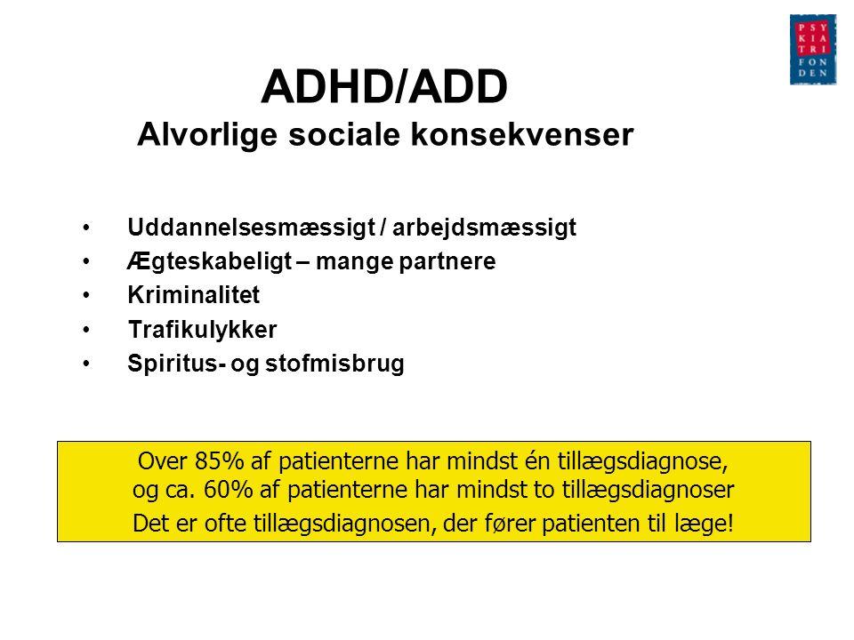 ADHD/ADD Alvorlige sociale konsekvenser