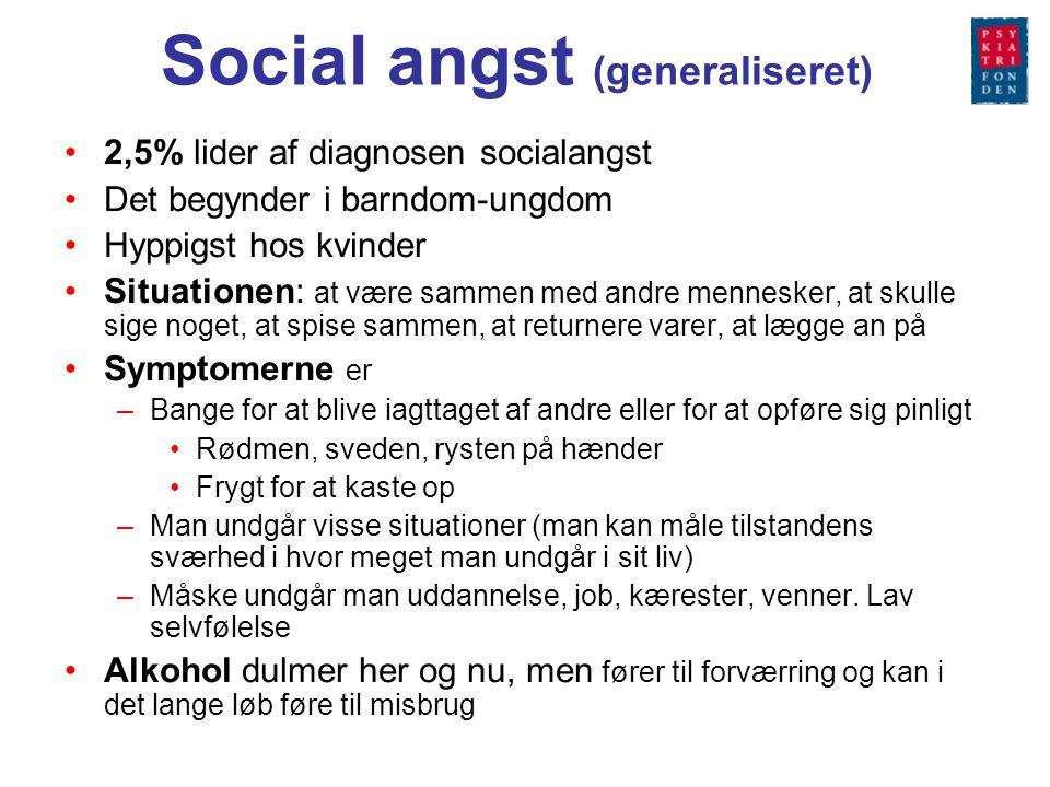 Social angst (generaliseret)
