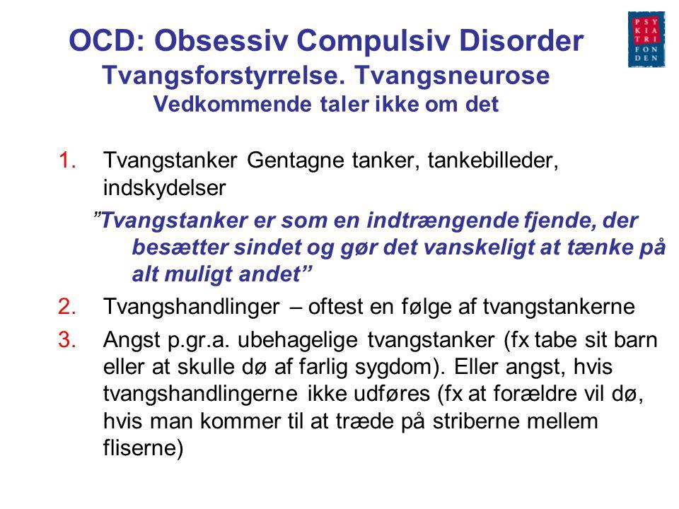 OCD: Obsessiv Compulsiv Disorder Tvangsforstyrrelse