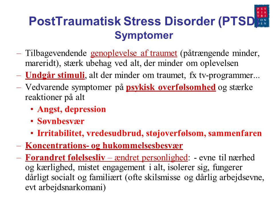 PostTraumatisk Stress Disorder (PTSD) Symptomer