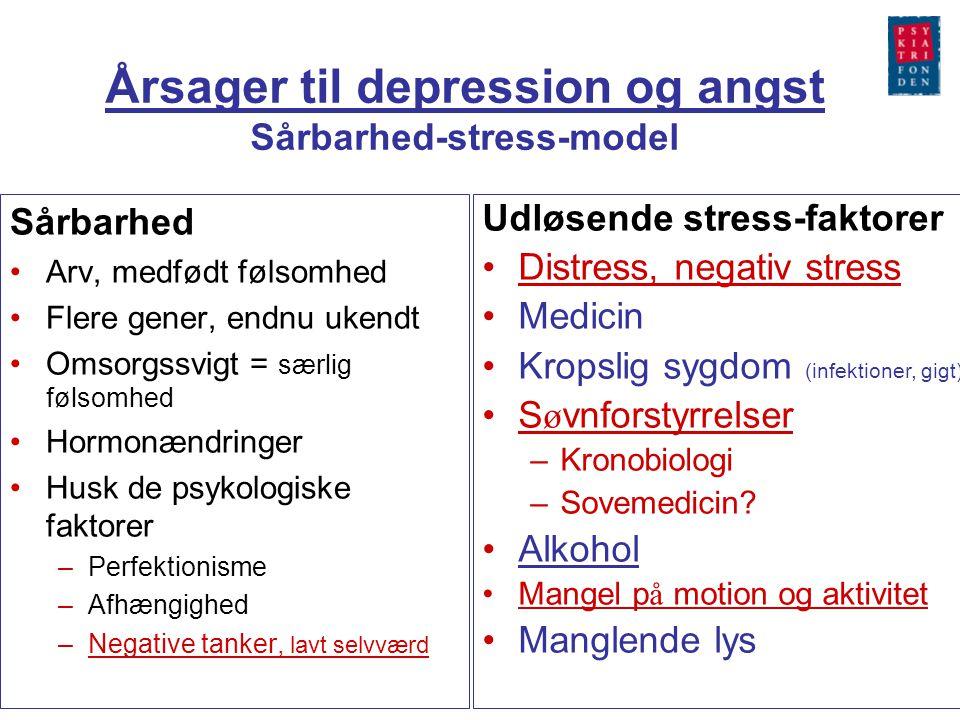 Årsager til depression og angst Sårbarhed-stress-model