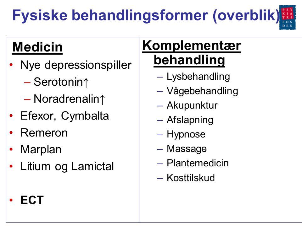 Fysiske behandlingsformer (overblik)