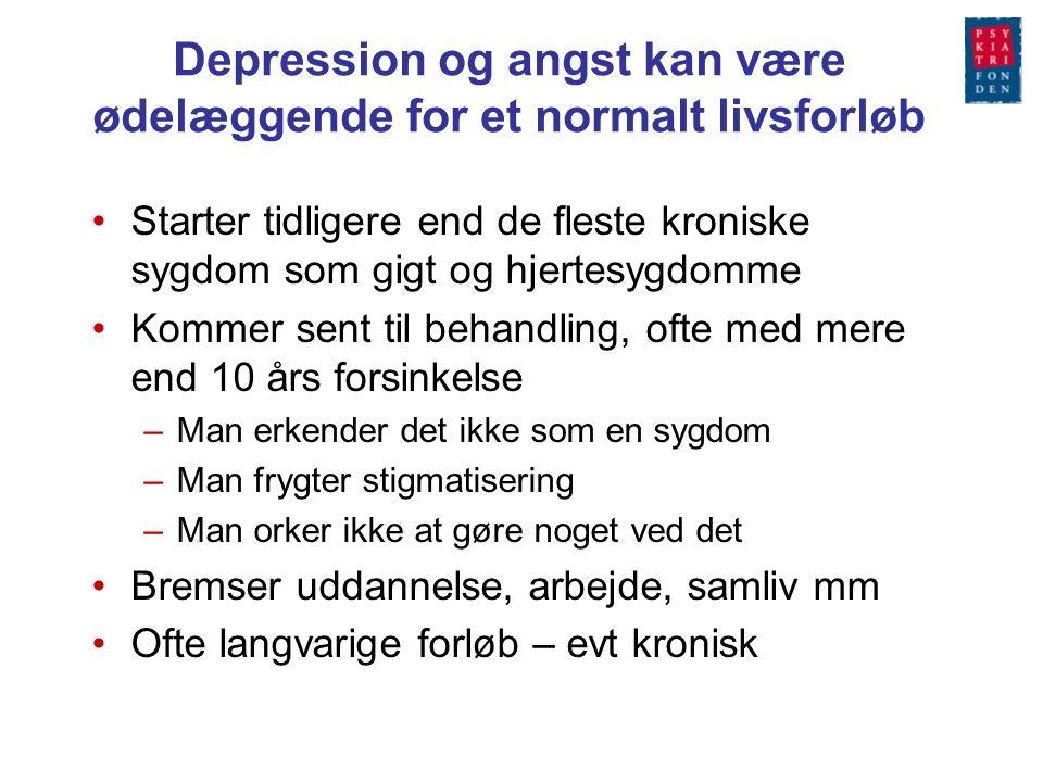 Depression og angst kan være ødelæggende for et normalt livsforløb