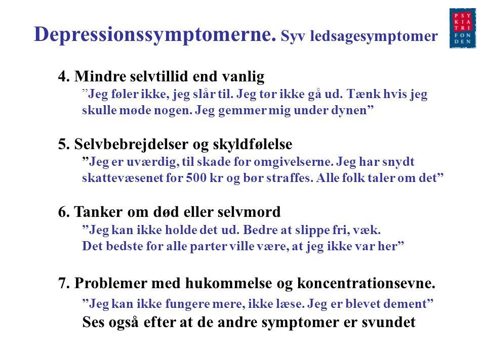 Depressionssymptomerne. Syv ledsagesymptomer