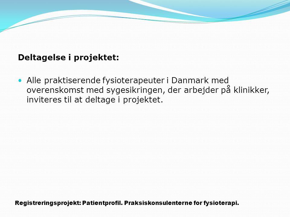 Deltagelse i projektet:
