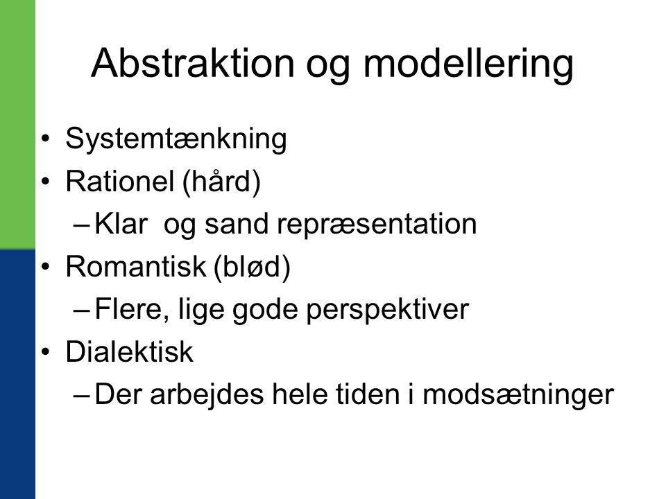 Abstraktion og modellering