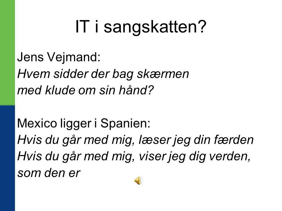 IT i sangskatten Jens Vejmand: Hvem sidder der bag skærmen