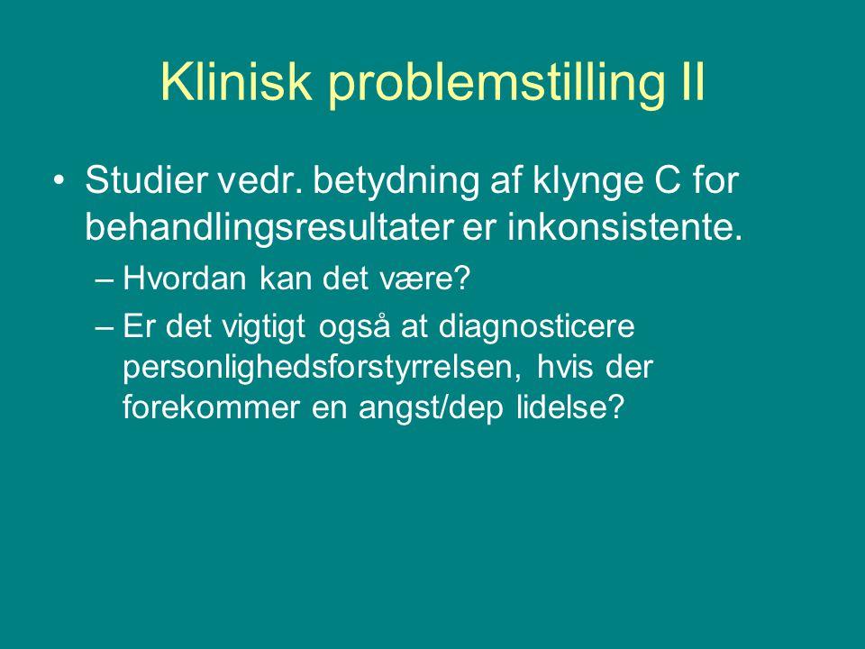 Klinisk problemstilling II