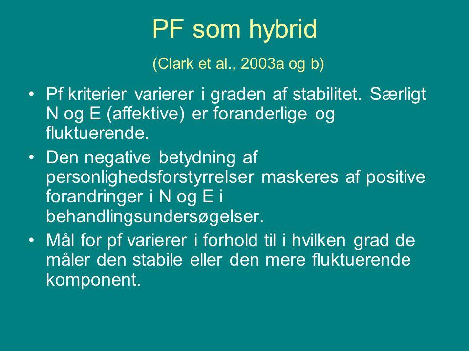 PF som hybrid (Clark et al., 2003a og b)
