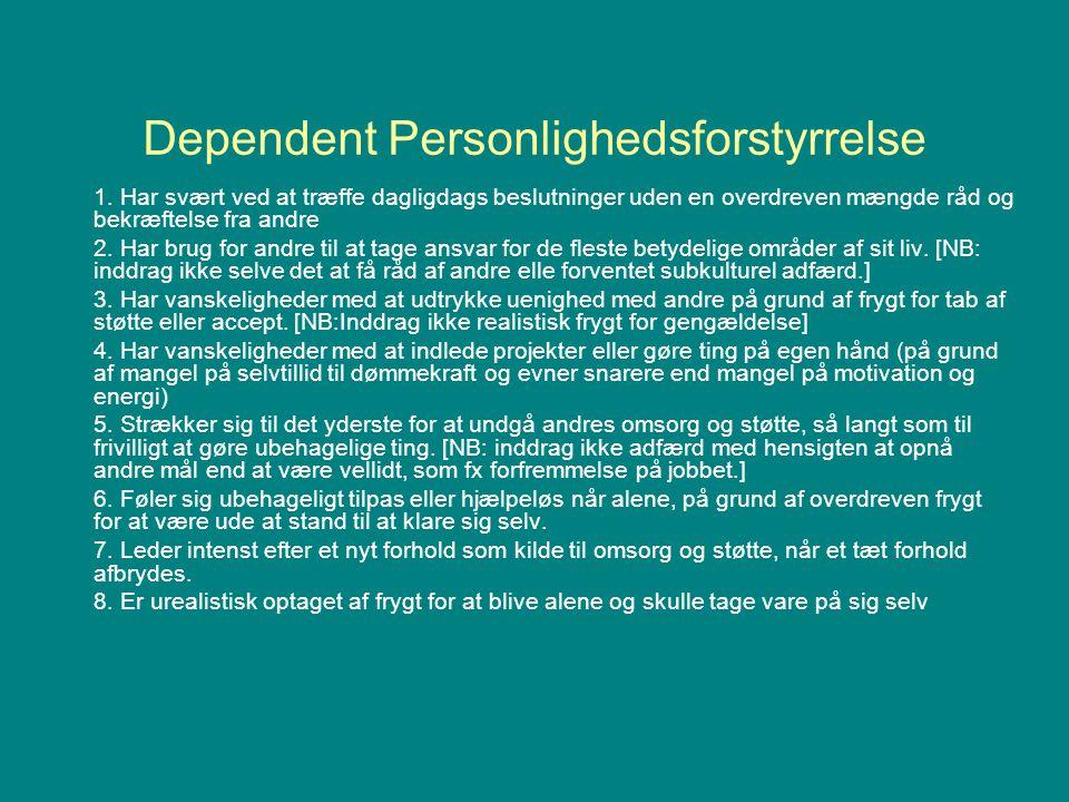 Dependent Personlighedsforstyrrelse