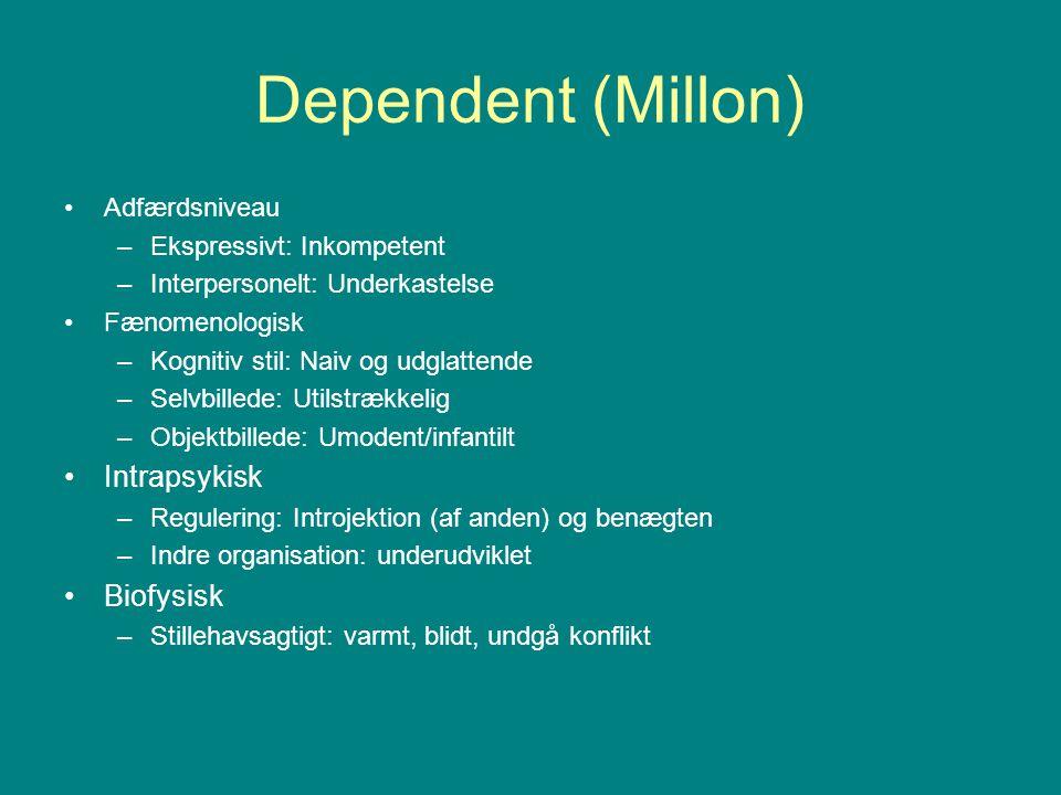 Dependent (Millon) Intrapsykisk Biofysisk Adfærdsniveau