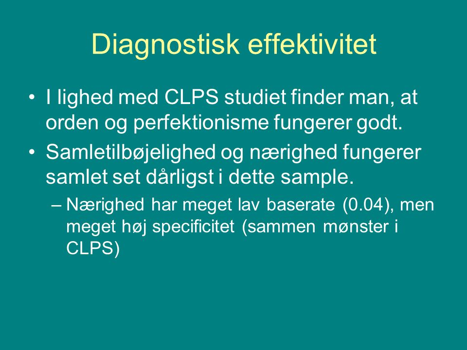 Diagnostisk effektivitet