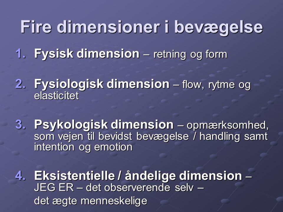 Fire dimensioner i bevægelse