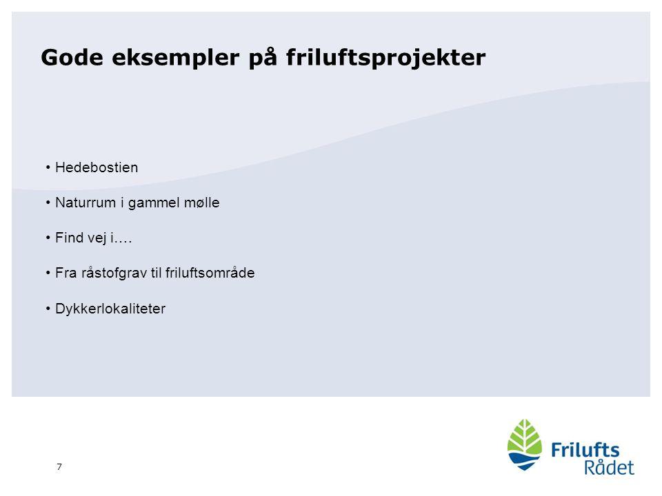 Gode eksempler på friluftsprojekter