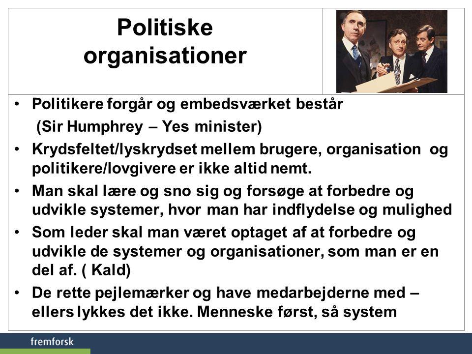 Politiske organisationer