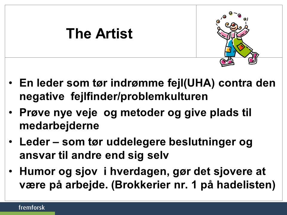 The Artist En leder som tør indrømme fejl(UHA) contra den negative fejlfinder/problemkulturen.