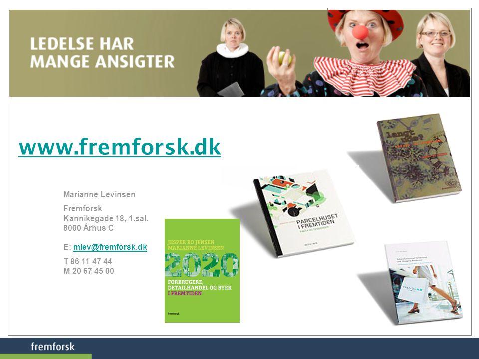 www.fremforsk.dk Marianne Levinsen