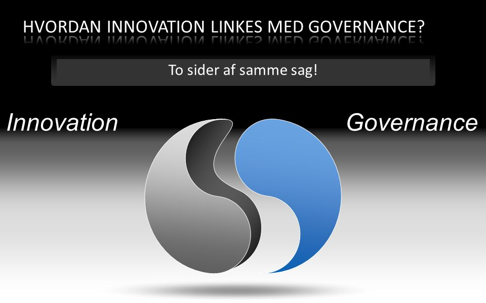 Hvordan Innovation linkes med Governance
