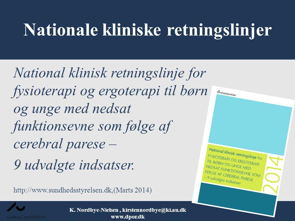 Nationale kliniske retningslinjer