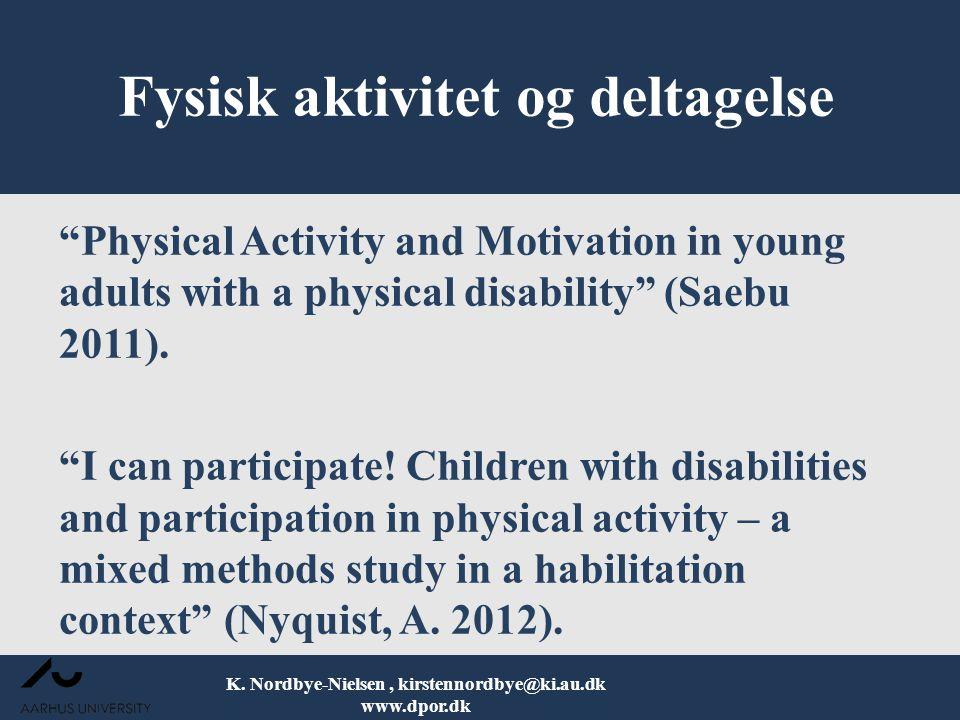 Fysisk aktivitet og deltagelse