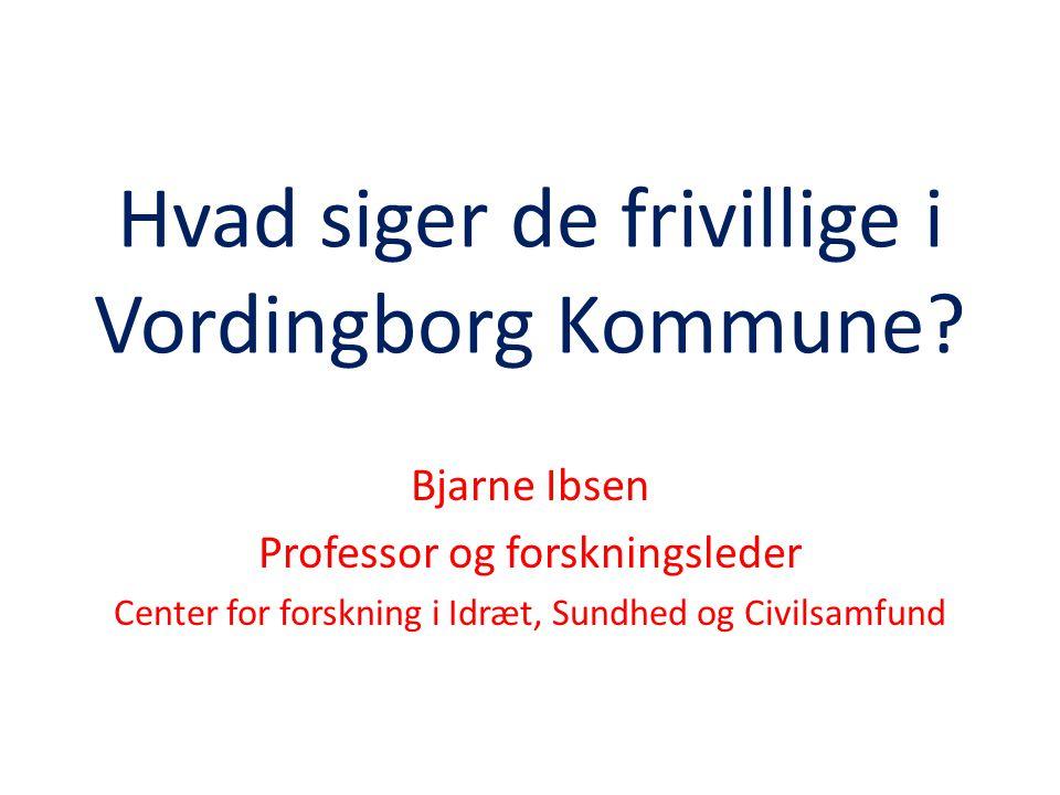Hvad siger de frivillige i Vordingborg Kommune