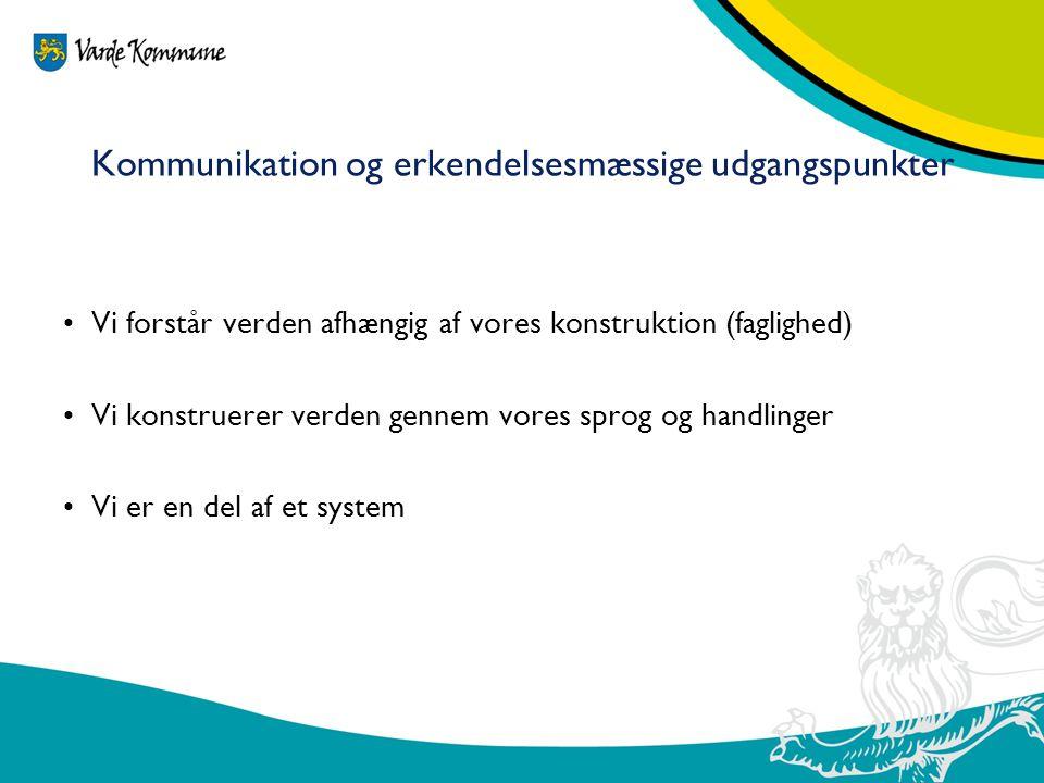 Kommunikation og erkendelsesmæssige udgangspunkter