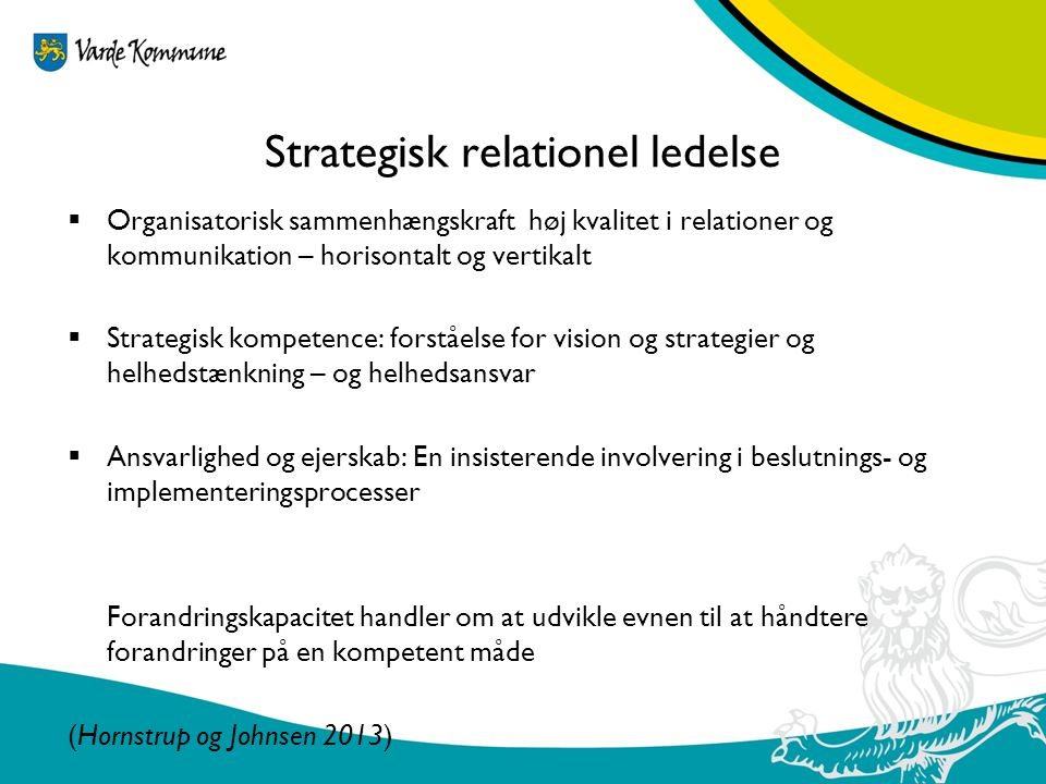 Strategisk relationel ledelse