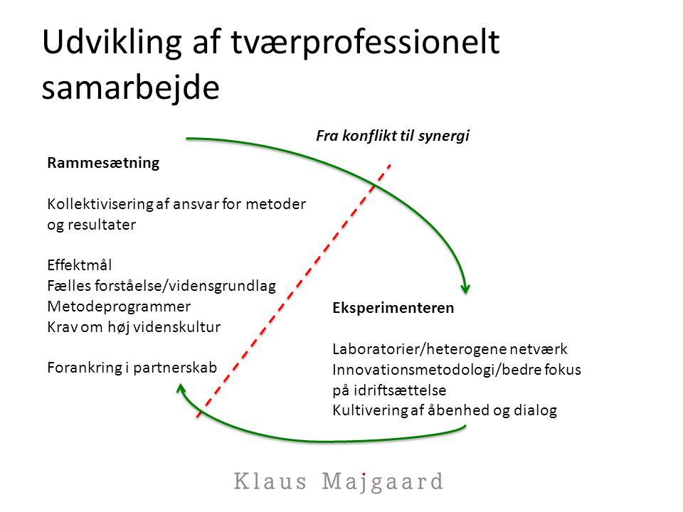 Udvikling af tværprofessionelt samarbejde