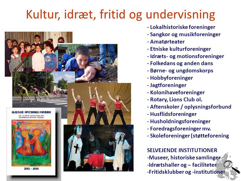 Kultur, idræt, fritid og undervisning