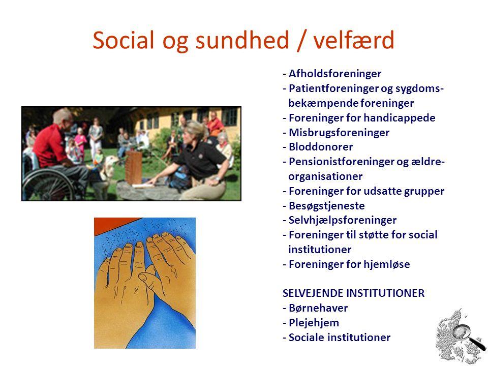 Social og sundhed / velfærd