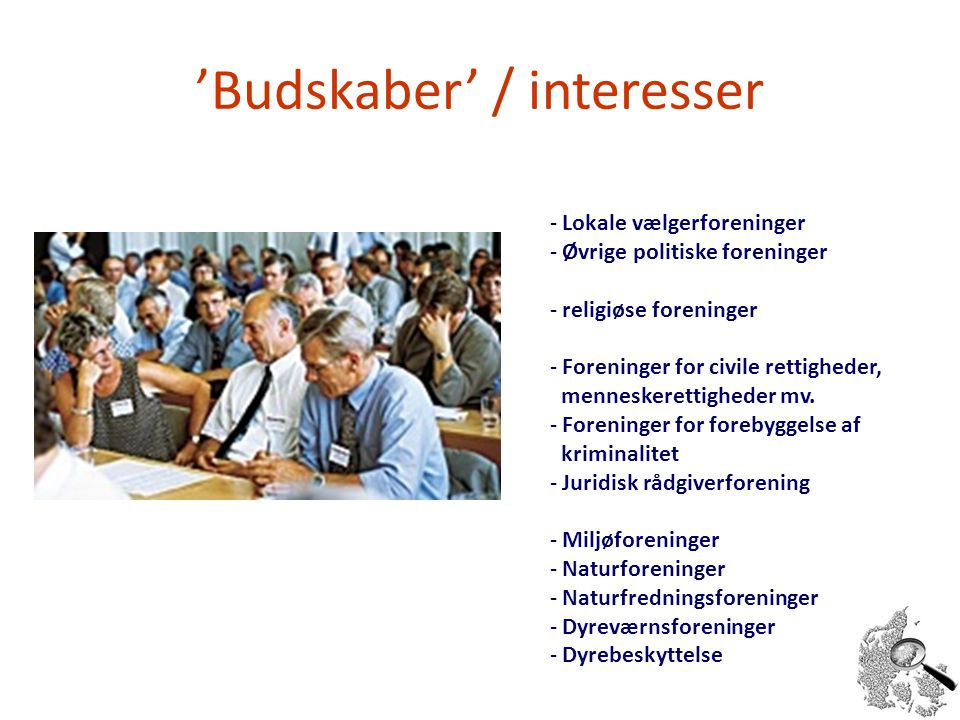 'Budskaber' / interesser