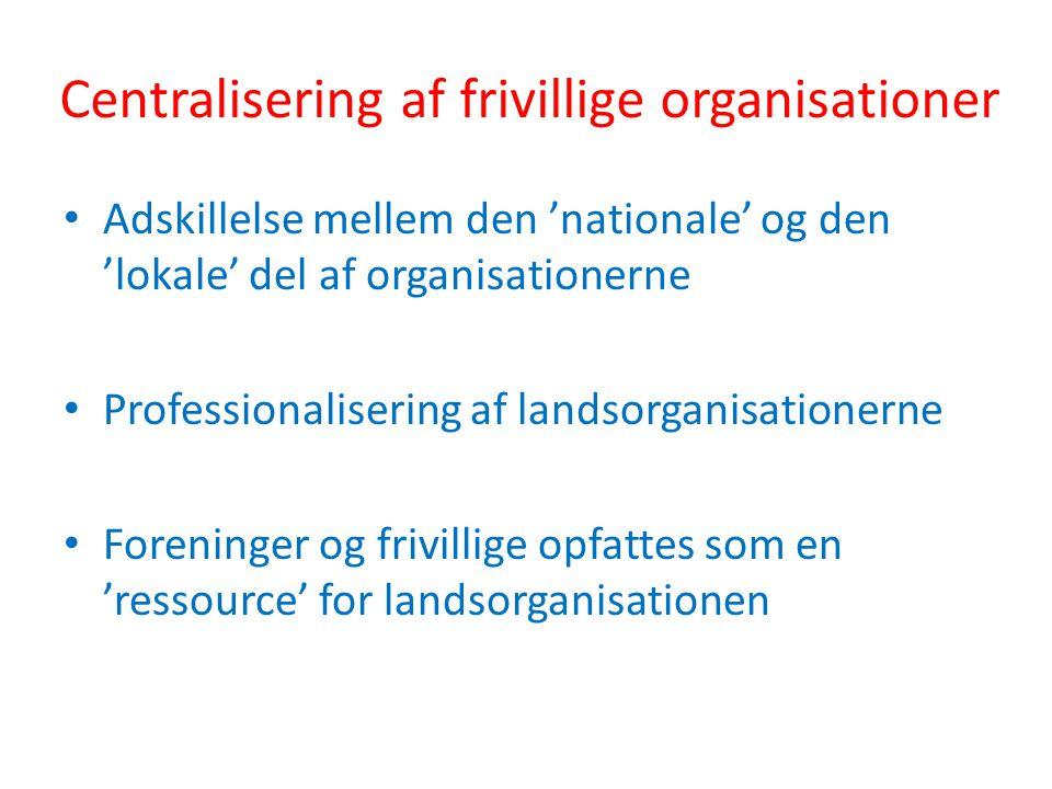 Centralisering af frivillige organisationer
