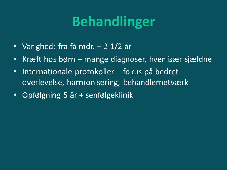 Behandlinger Varighed: fra få mdr. – 2 1/2 år