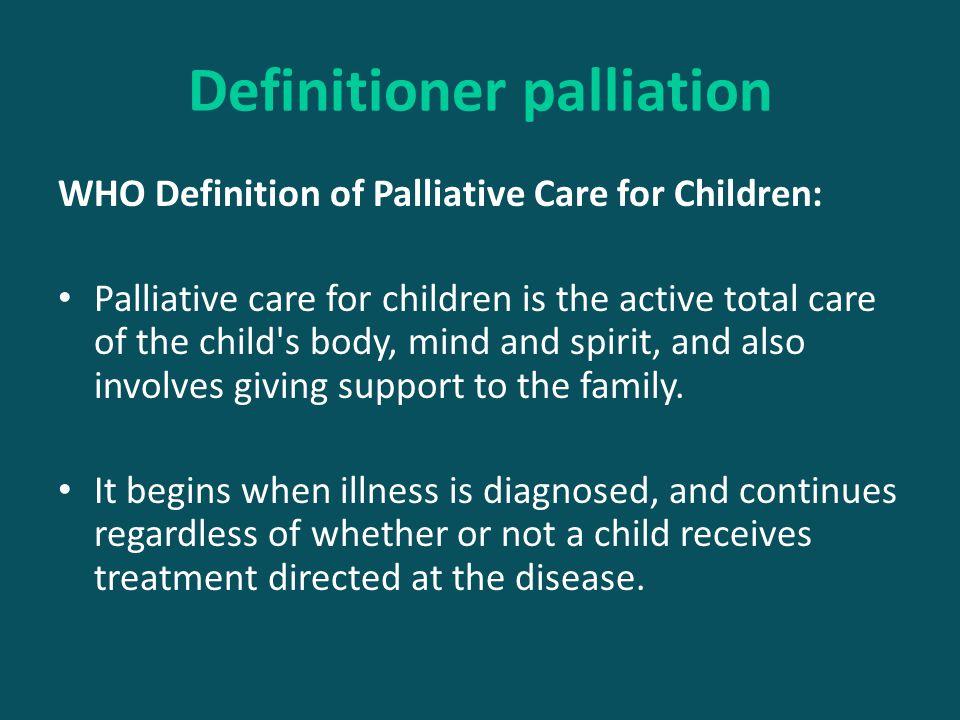 Definitioner palliation