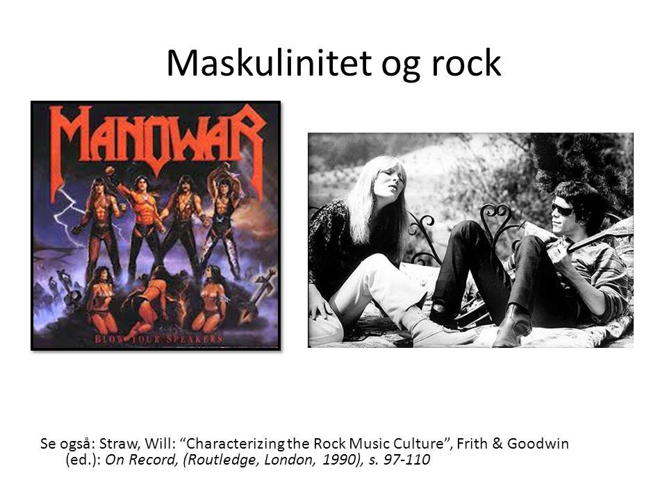Maskulinitet og rock