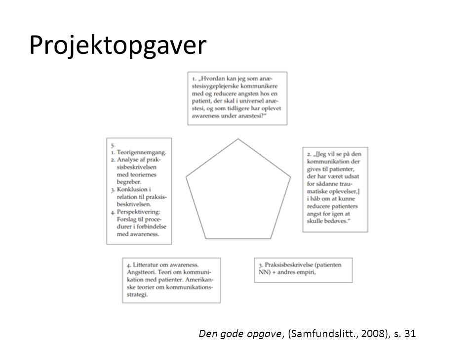 Projektopgaver Den gode opgave, (Samfundslitt., 2008), s. 31