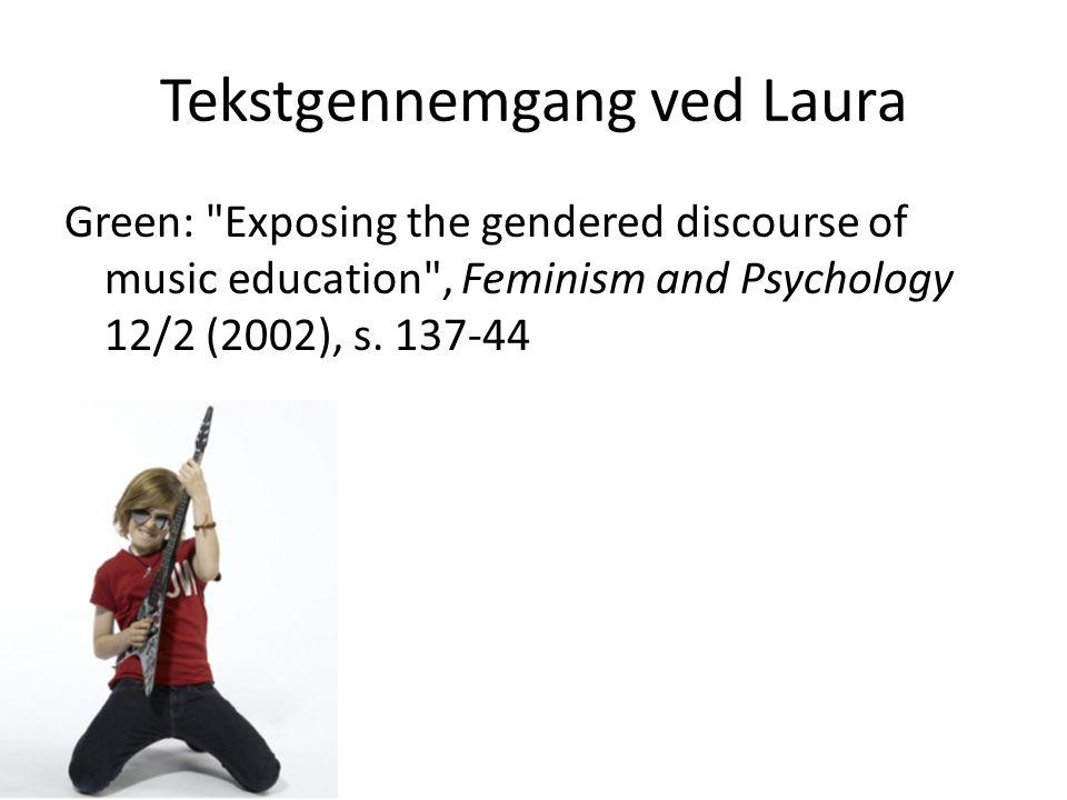 Tekstgennemgang ved Laura
