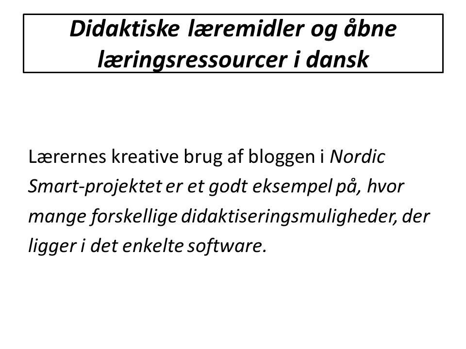 Didaktiske læremidler og åbne læringsressourcer i dansk