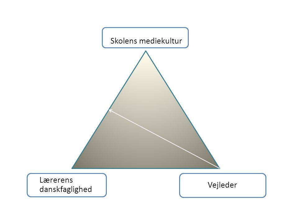 Skolens mediekultur Lærerens danskfaglighed Vejleder
