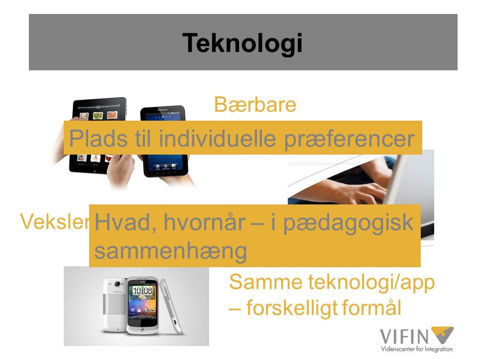 Teknologi Plads til individuelle præferencer
