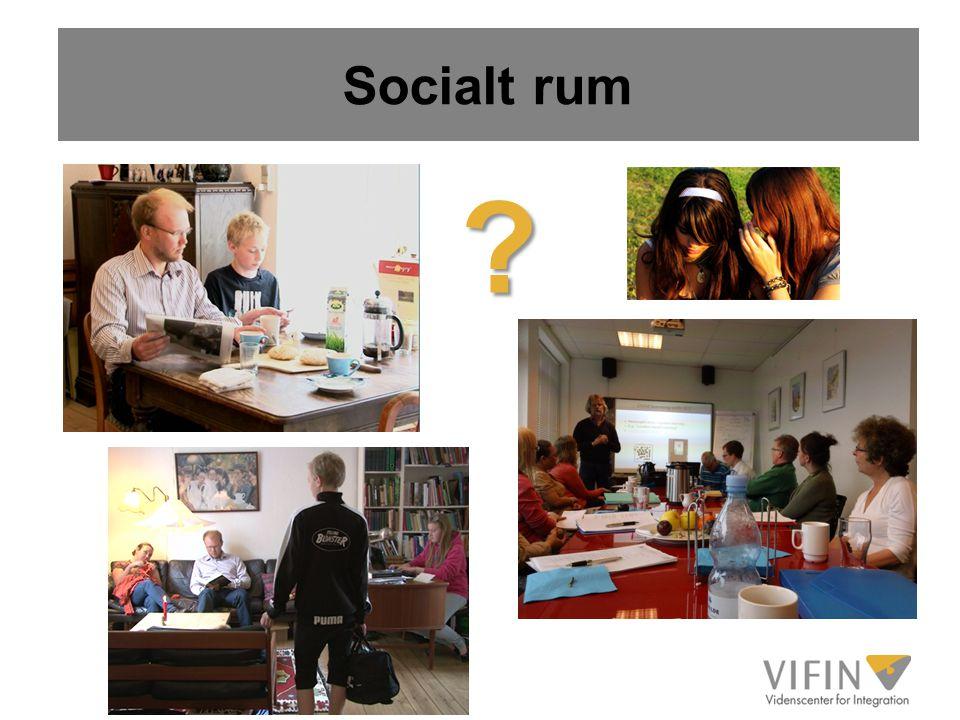 Socialt rum Mulighed for at yde support