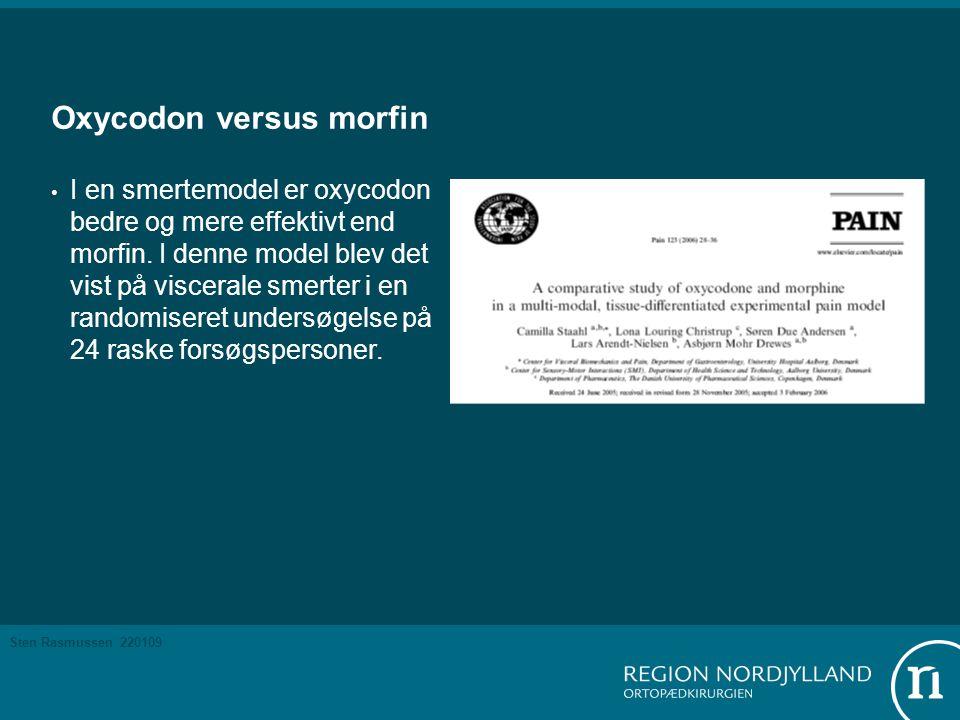 Oxycodon versus morfin