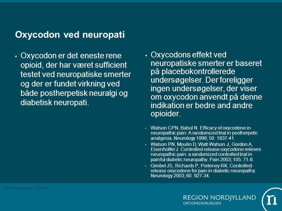 Oxycodon ved neuropati