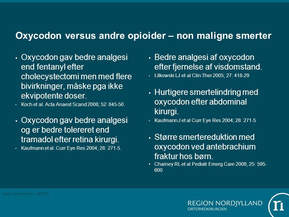 Oxycodon versus andre opioider – non maligne smerter