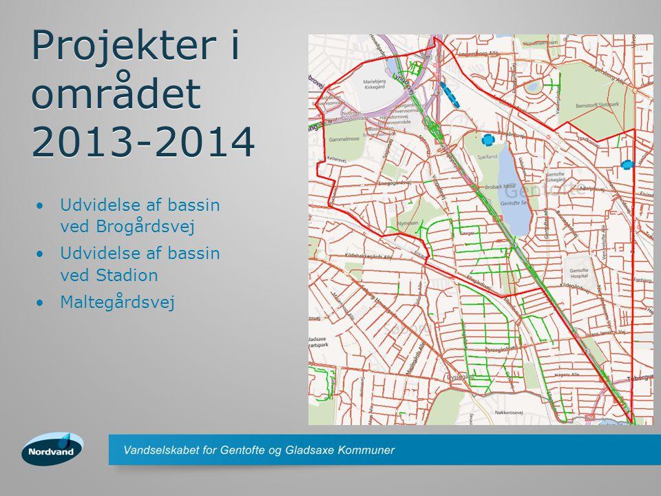 Projekter i området 2013-2014 Udvidelse af bassin ved Brogårdsvej