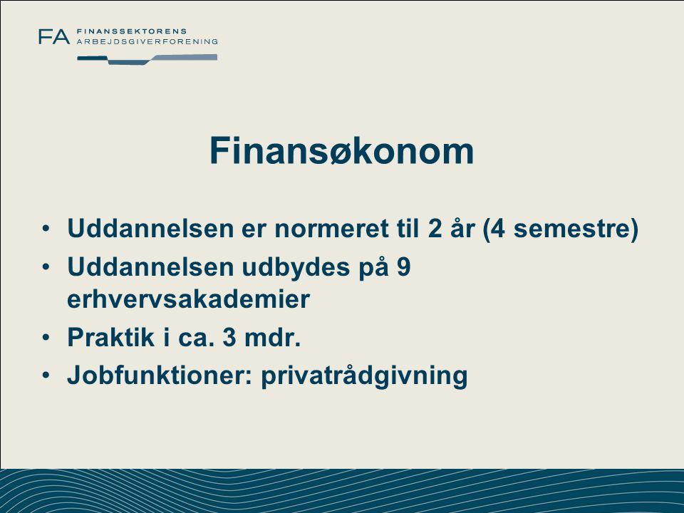 Finansøkonom Uddannelsen er normeret til 2 år (4 semestre)