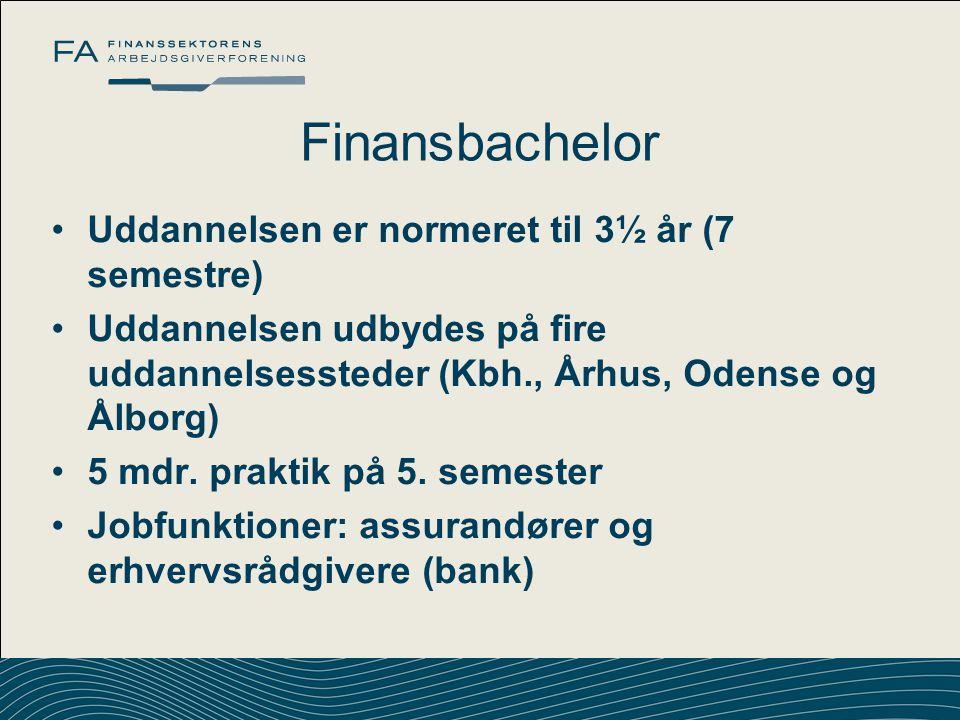 Finansbachelor Uddannelsen er normeret til 3½ år (7 semestre)