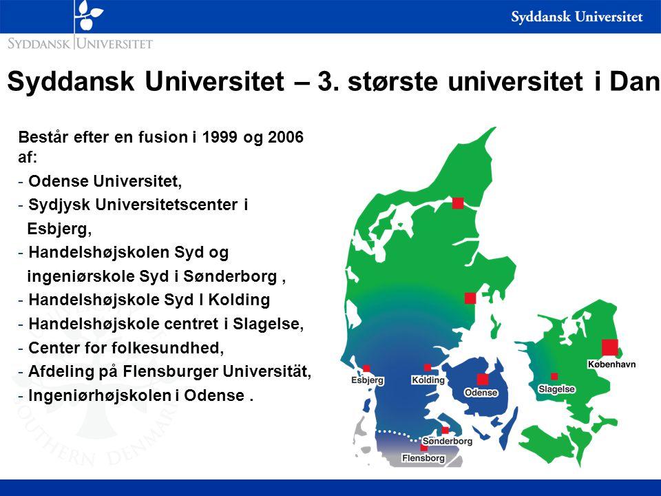 Syddansk Universitet – 3. største universitet i Danmark