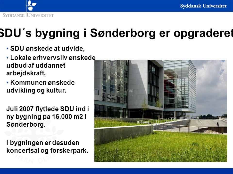 SDU´s bygning i Sønderborg er opgraderet