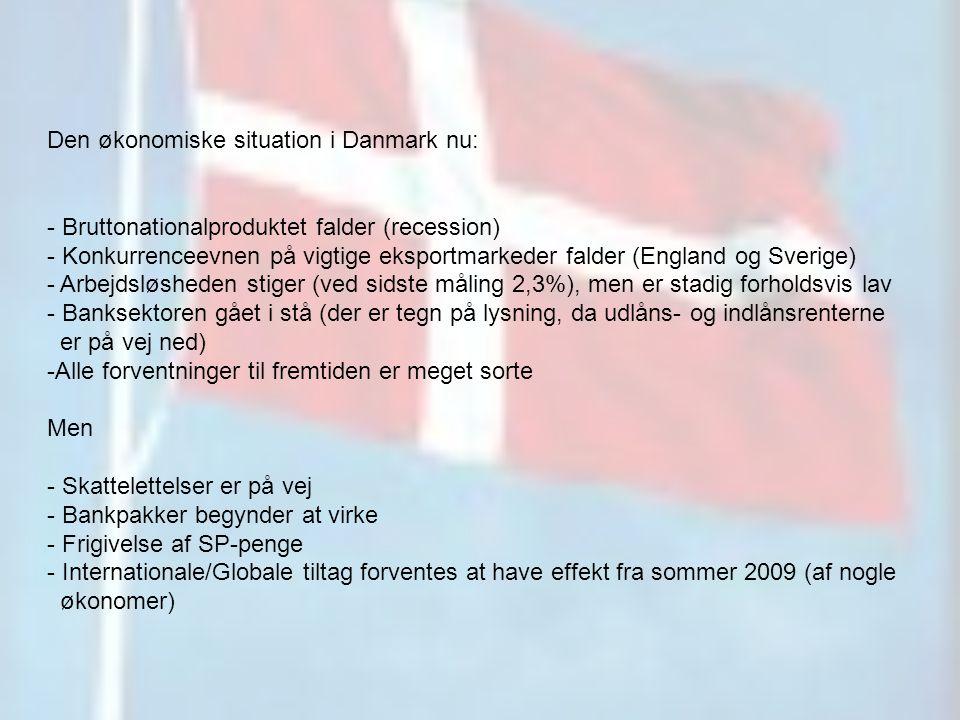 Den økonomiske situation i Danmark nu:
